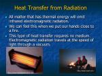 heat transfer from radiation