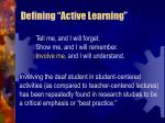 defining active learning12