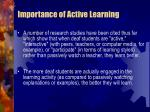 importance of active learning56