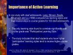 importance of active learning58
