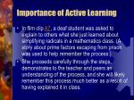 importance of active learning63