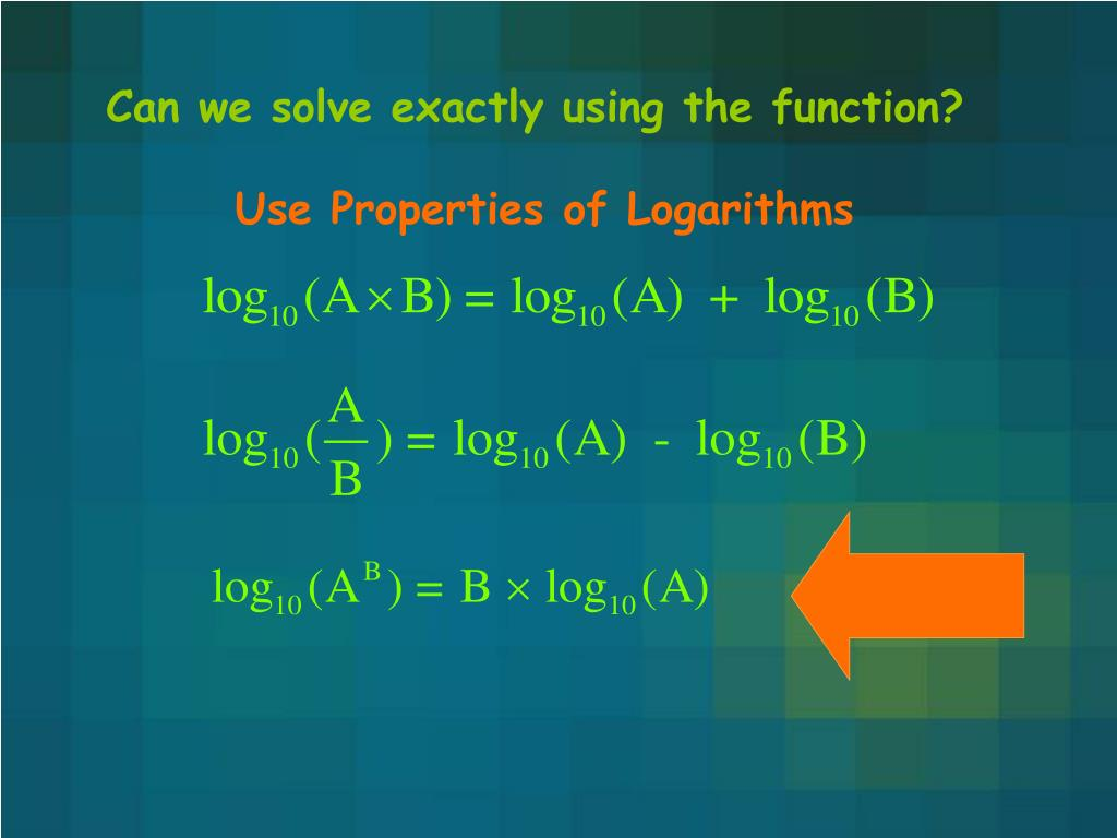 Can we solve exactly using the function?