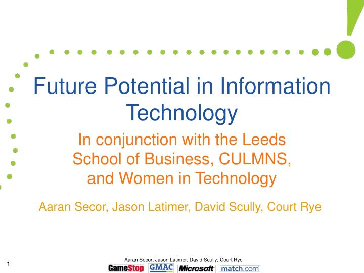 Future potential in information technology