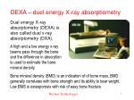 dexa duel energy x ray absorptiometry