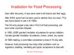 irradiation for food processing