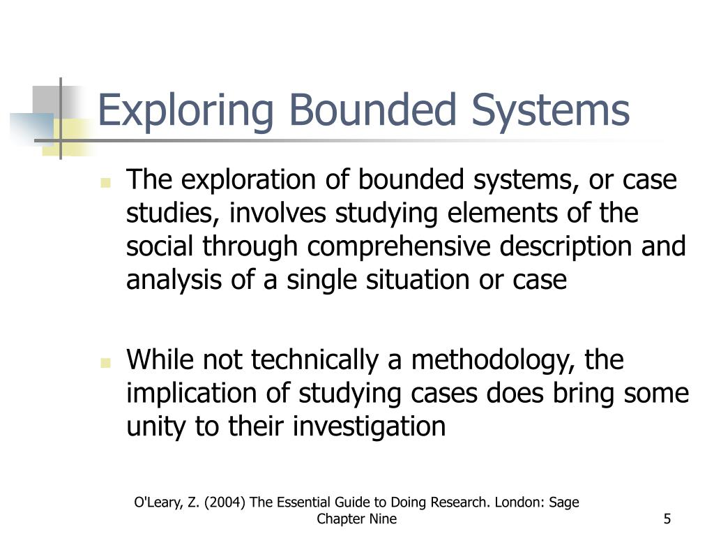 Exploring Bounded Systems