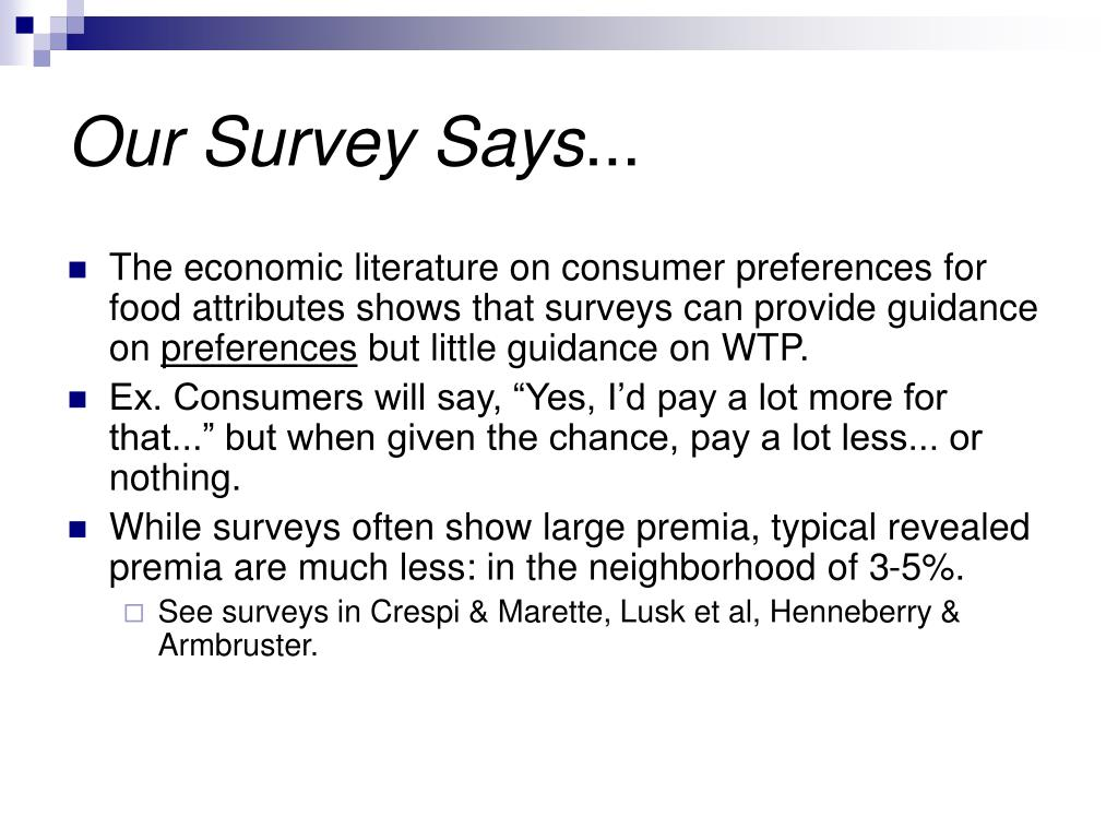 Our Survey Says