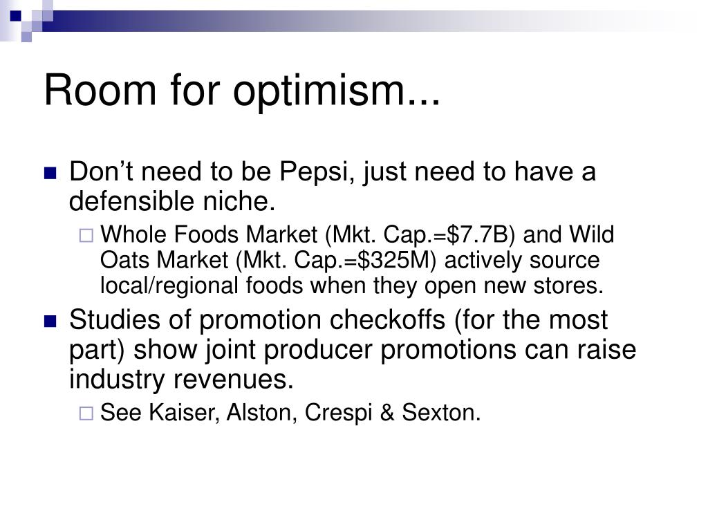 Room for optimism...