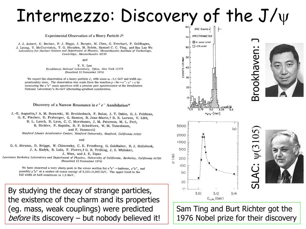 Intermezzo: Discovery of the J/