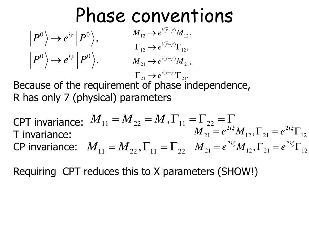 Phase conventions