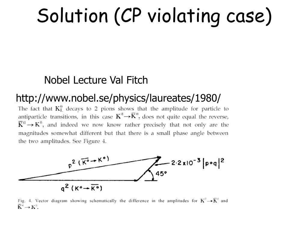 Solution (CP violating case)