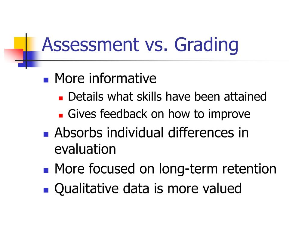 Assessment vs. Grading