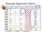 example alignment matrix