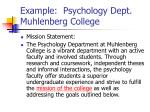 example psychology dept muhlenberg college