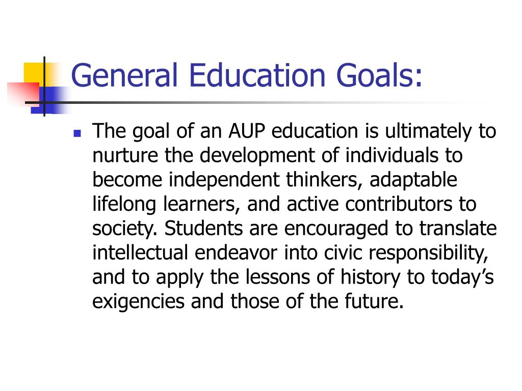 General Education Goals: