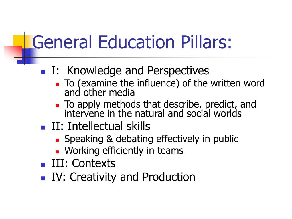 General Education Pillars:
