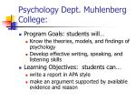 psychology dept muhlenberg college