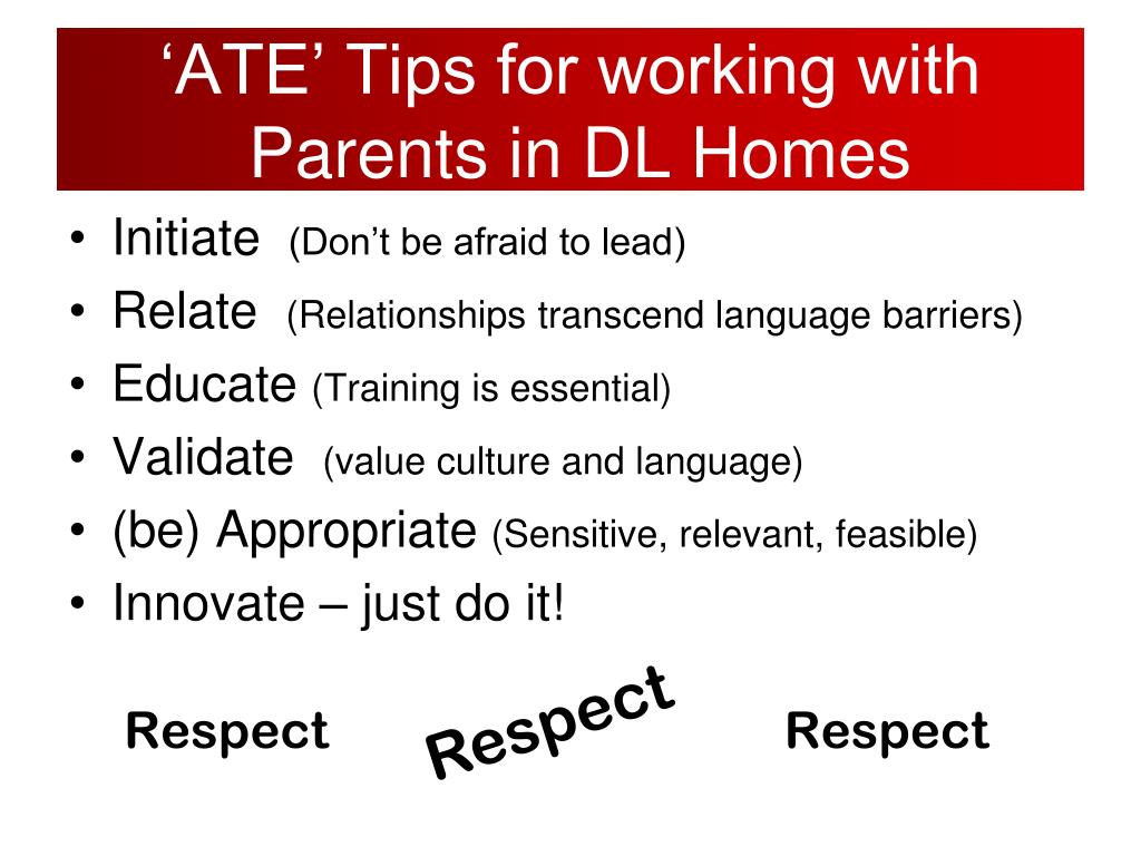 'ATE' Tips for working with