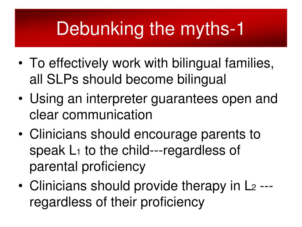 Debunking the myths-1
