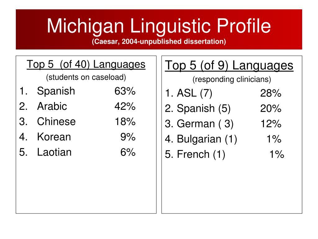 Michigan Linguistic Profile