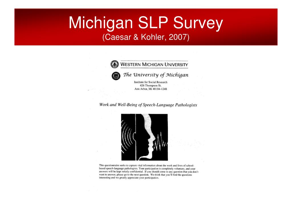Michigan SLP Survey