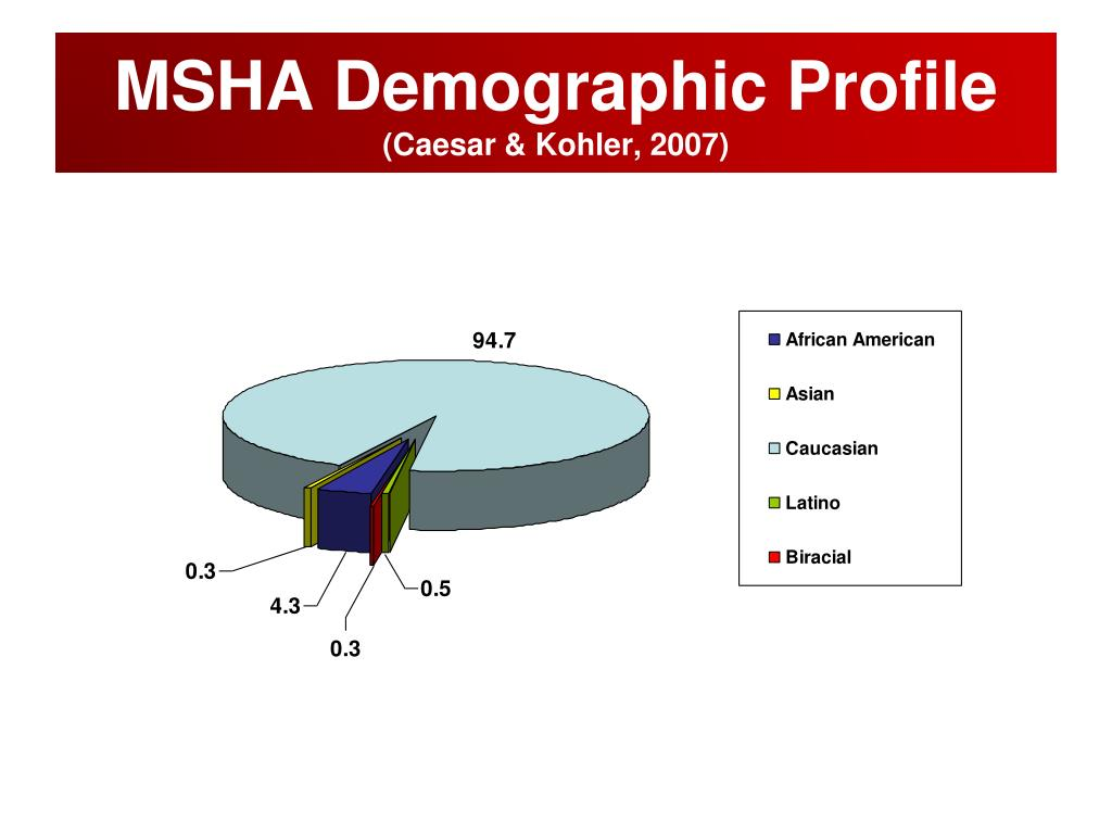 MSHA Demographic Profile