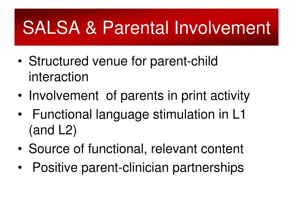 SALSA & Parental Involvement