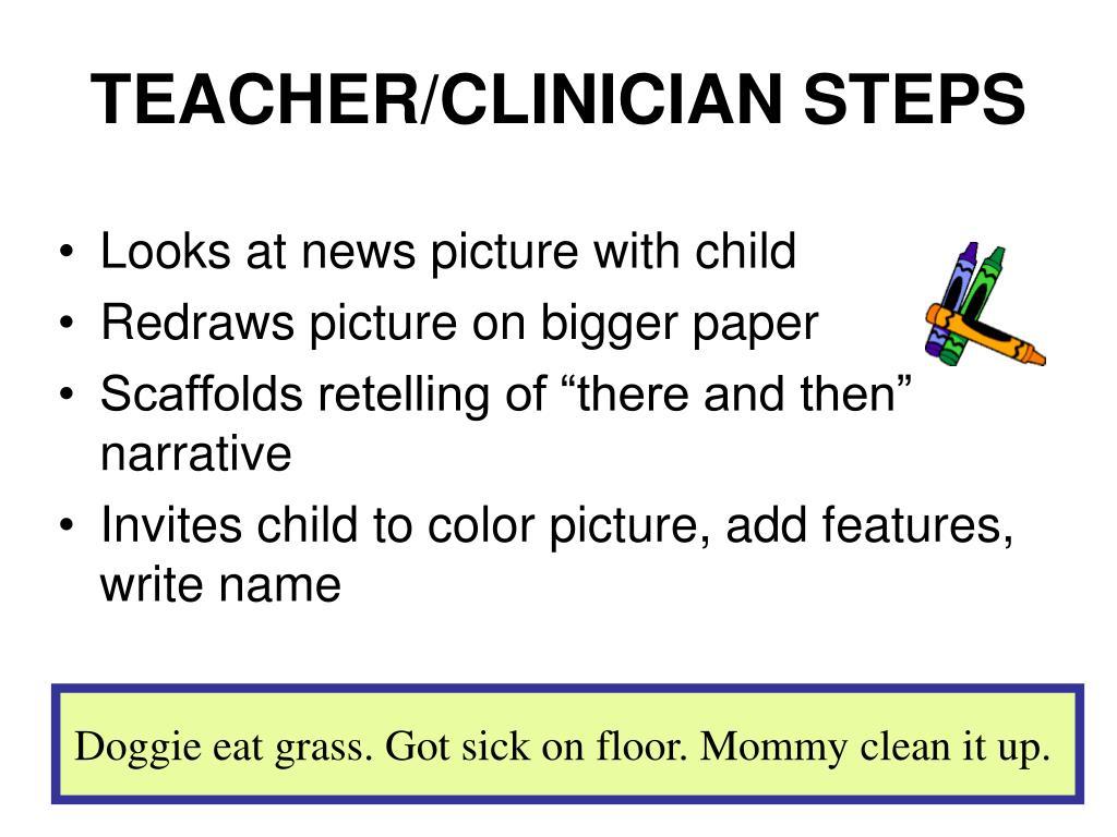 TEACHER/CLINICIAN STEPS