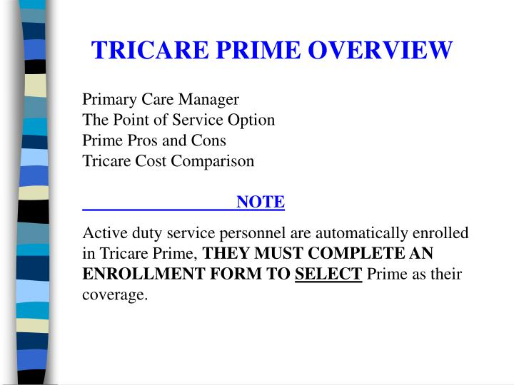 Tricare prime overview