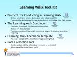 learning walk tool kit