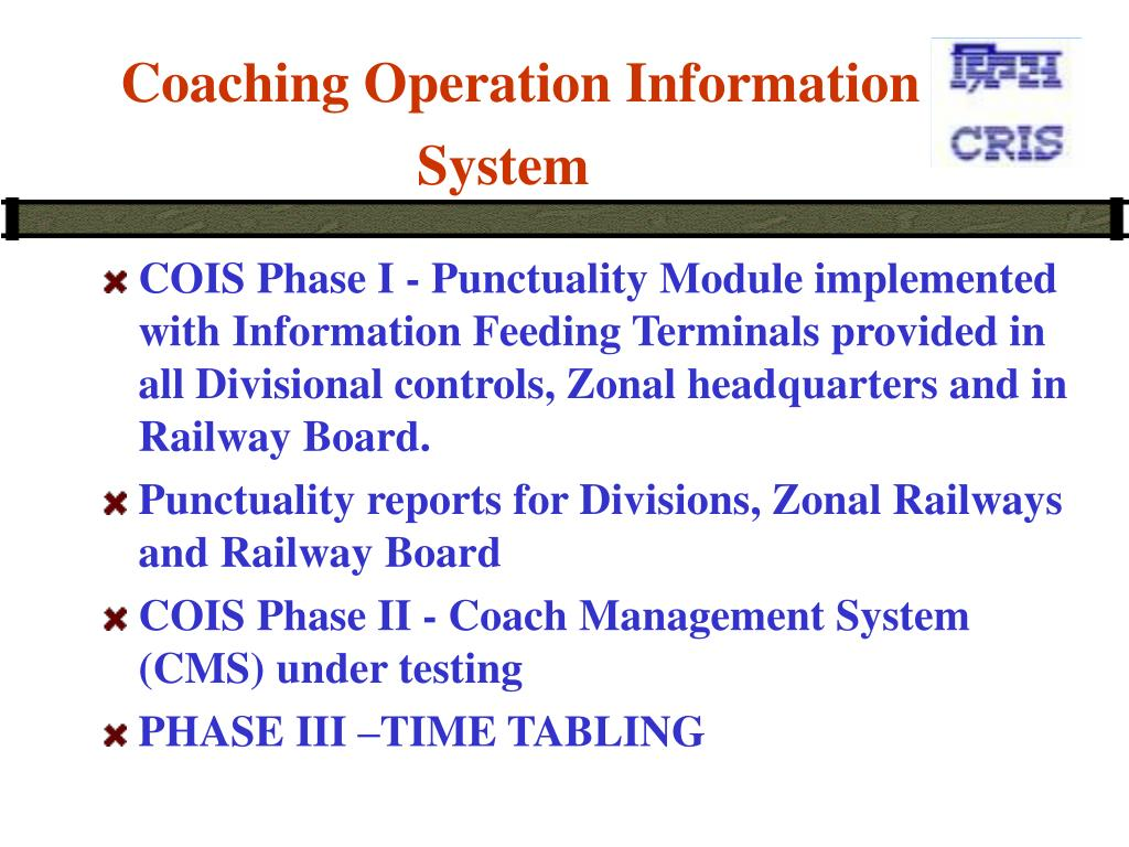 Coaching Operation Information System