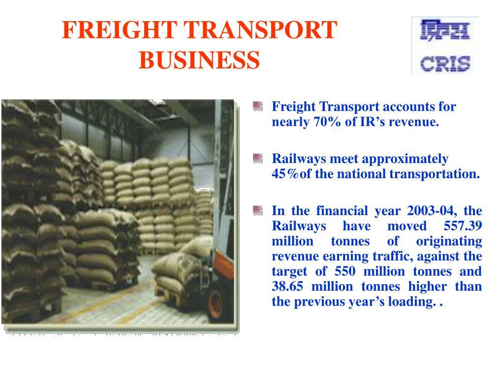 FREIGHT TRANSPORT BUSINESS