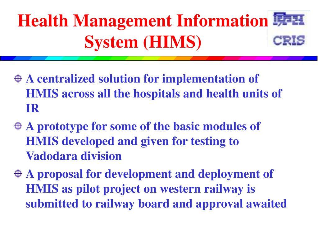 Health Management Information System (HIMS)