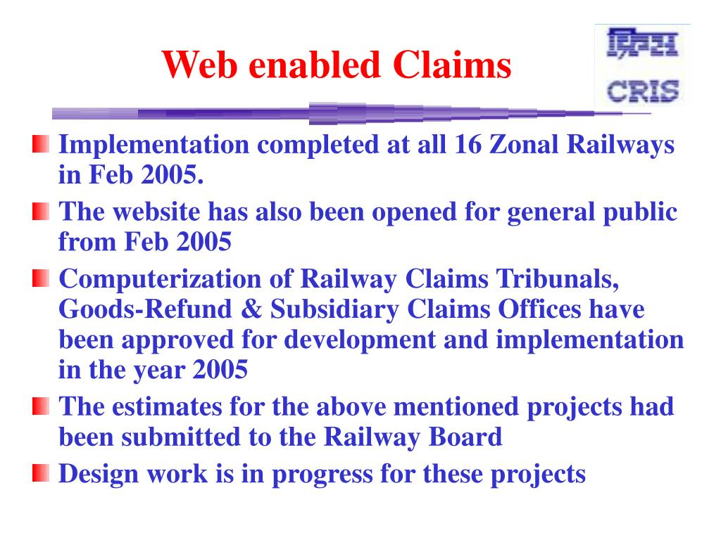 Web enabled Claims