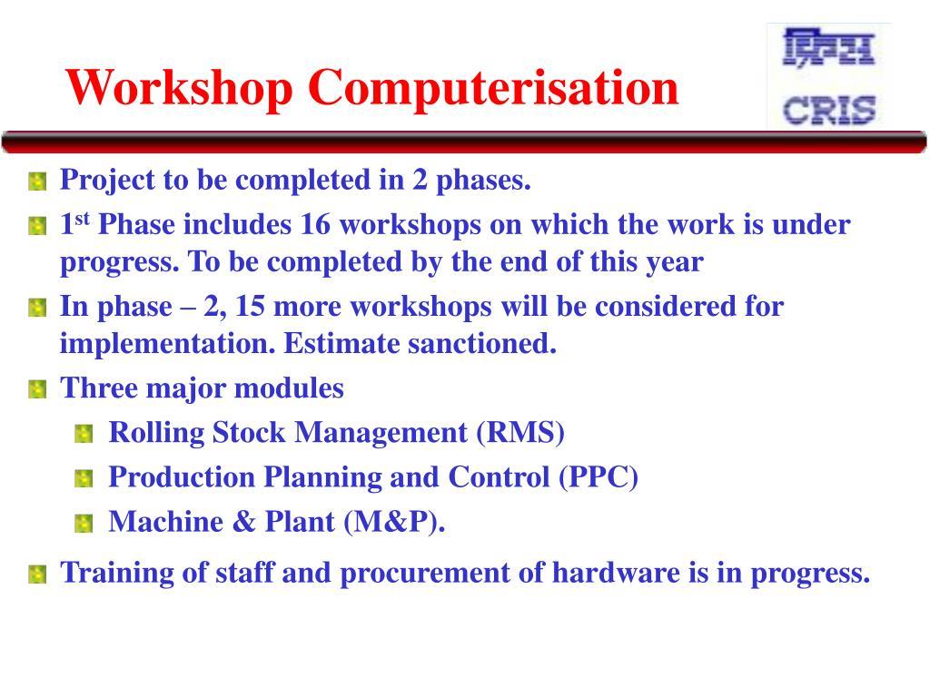 Workshop Computerisation