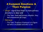 4 common emotions their purpose75