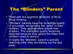 the blinders parent