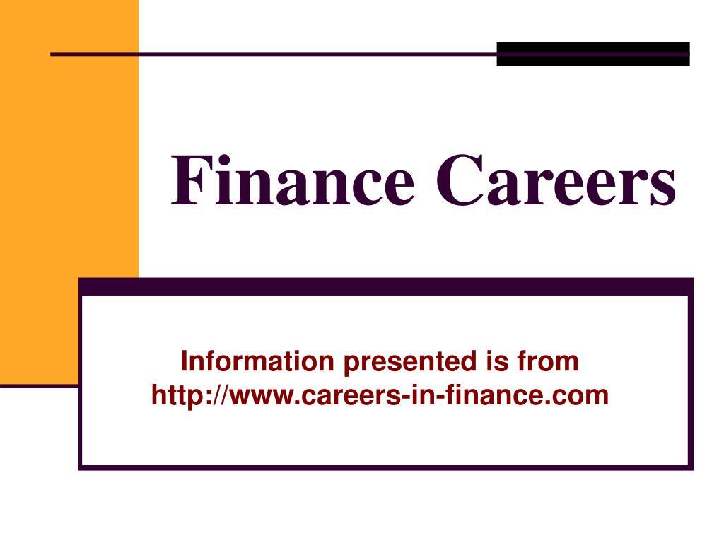 finance careers l.