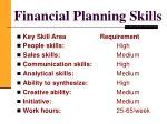 financial planning skills