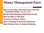 money management facts