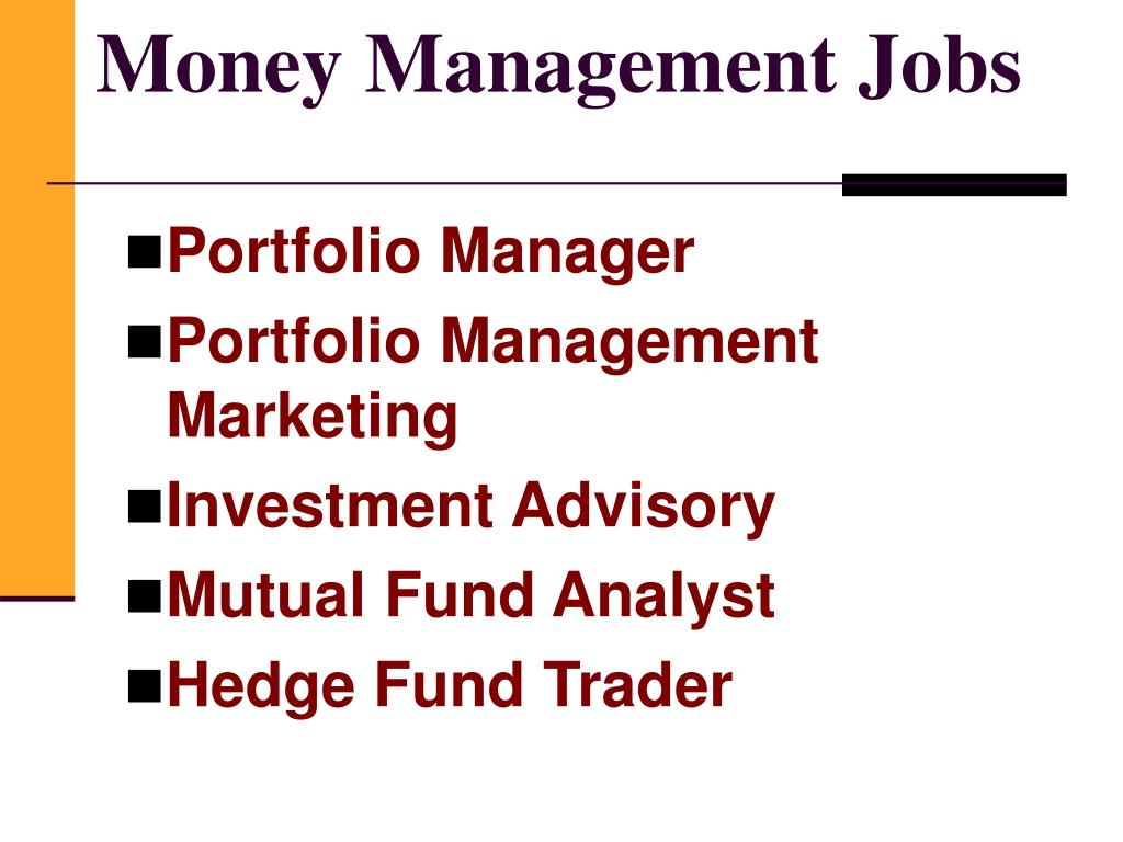Money Management Jobs