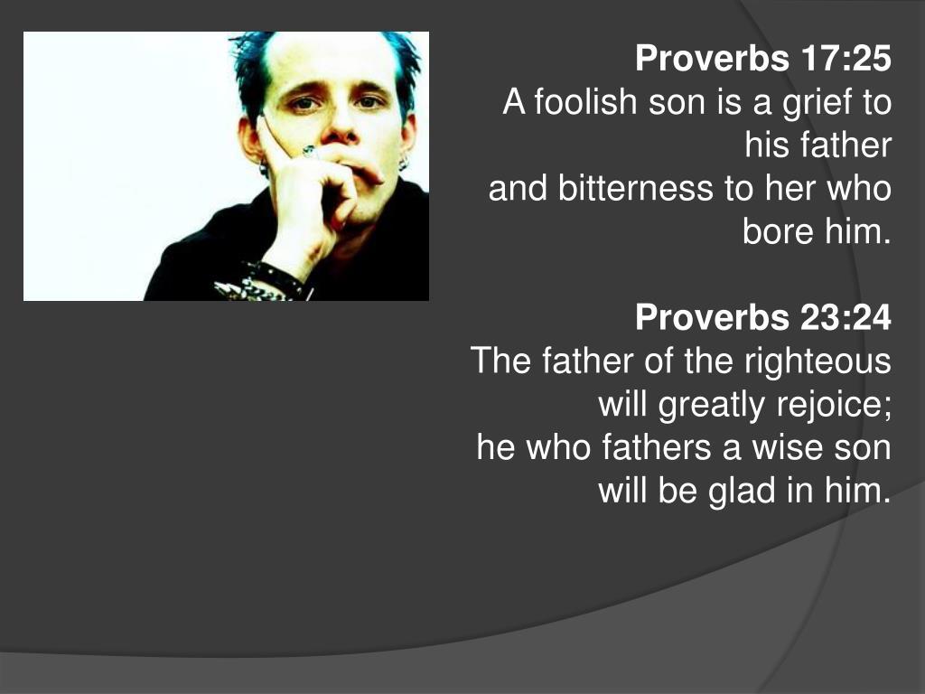 Proverbs 17:25