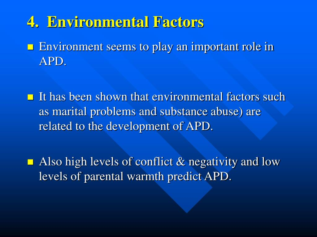 4.  Environmental Factors