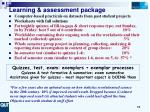 learning assessment package