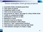 some examples from group projects