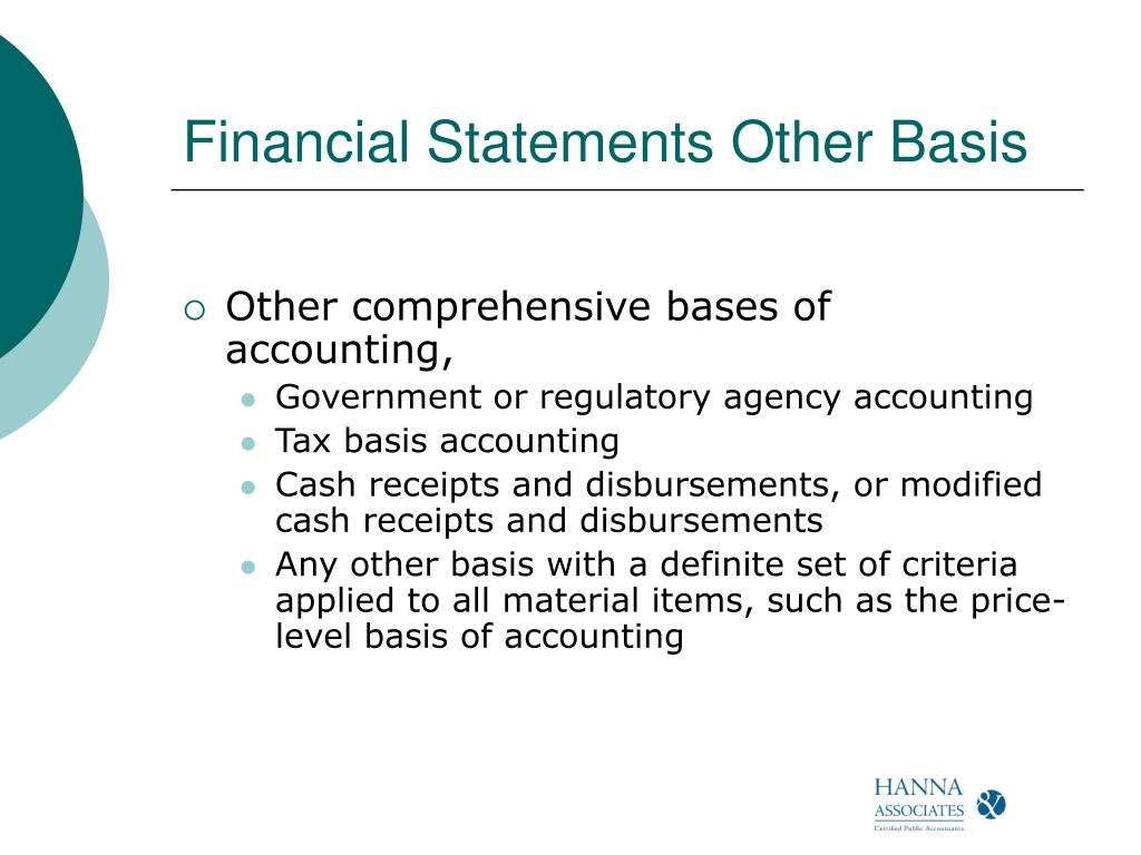 Financial Statements Other Basis