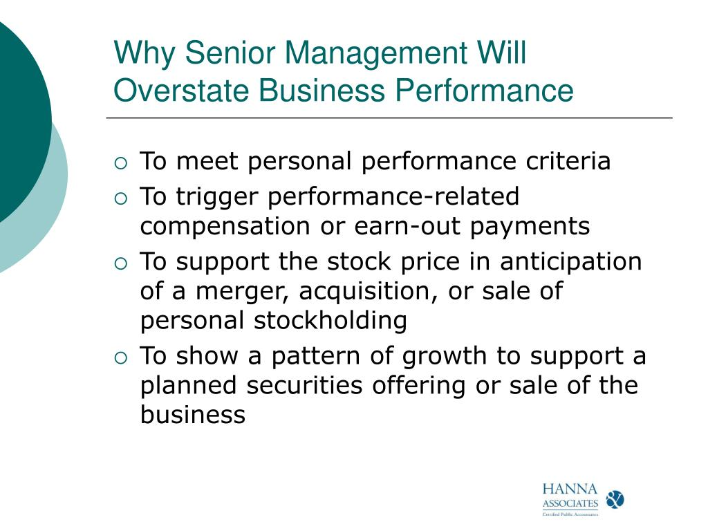 Why Senior Management Will Overstate Business Performance