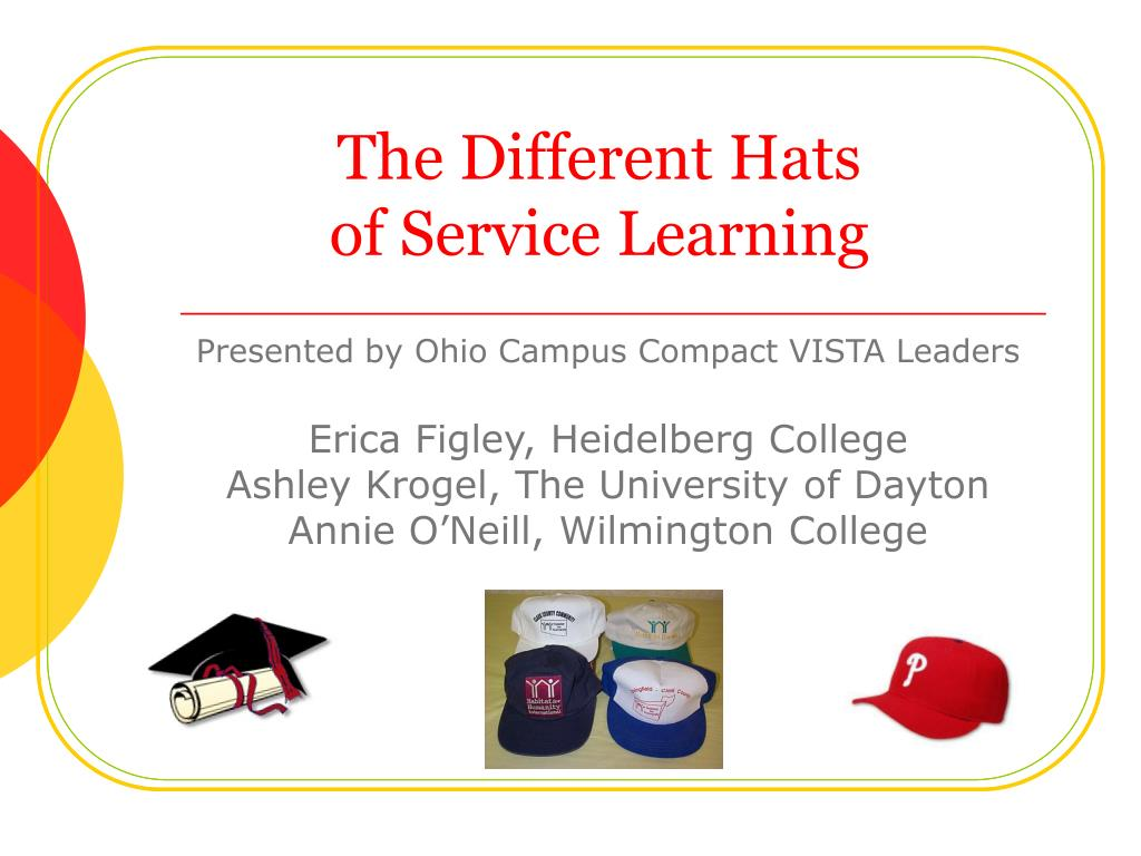 the different hats of service learning l.