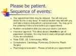 please be patient sequence of events