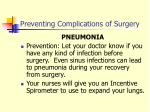 preventing complications of surgery